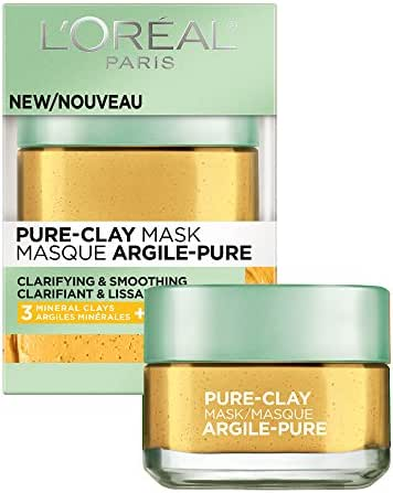 Facial Treatments: L'Oreal Paris Clarify & Smooth Pure-Clay Face Mask