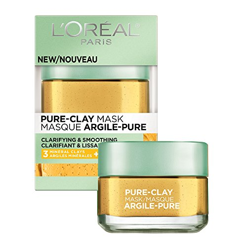 L'Oréal Paris Skincare Pure-Clay Face Mask with Yuzu Lemon for Rough Skin to Clarify & Smooth, 1.7 oz.