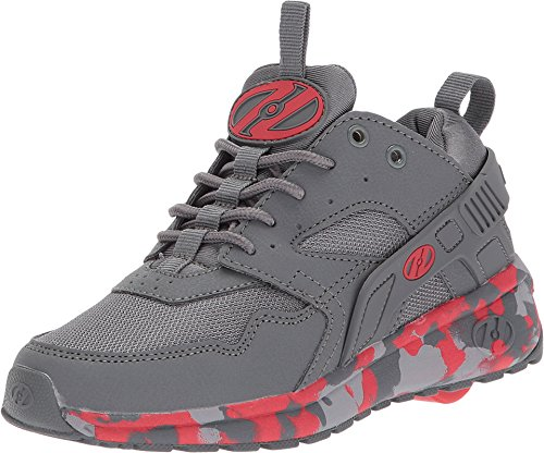 Confetti Silhouette (Heelys Boy's Force (Little Kid/Big Kid/Adult) Charcoal/Red Confetti 1 M US Little Kid)