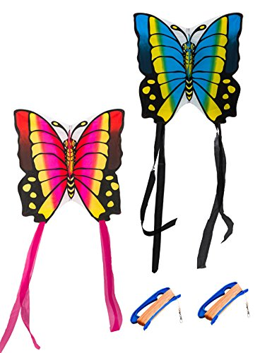 Butterfly Twins Kites with 2 Spools and string
