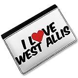 RFID Passport Holder I Love West Allis, Cover Case / Wallet - Neonblond