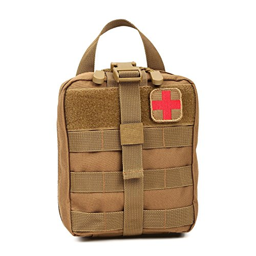(Orca Tactical MOLLE Rip-Away EMT Medical First Aid Pouch (Bag Only) (Coyote))