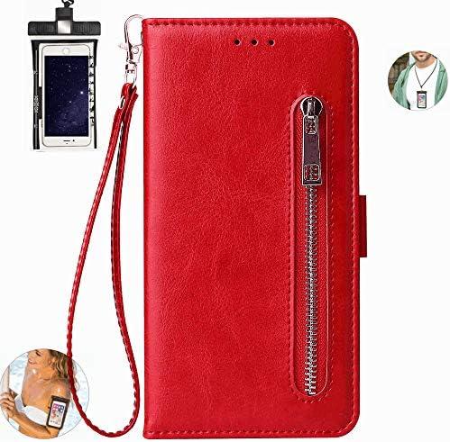 耐汚れ 耐摩擦 Huawei P30 ケース 手帳型 本革 レザー カバー 財布型 スタンド機能 カードポケット 耐摩擦 全面保護 人気 アイフォン[無料付防水ポーチケース]