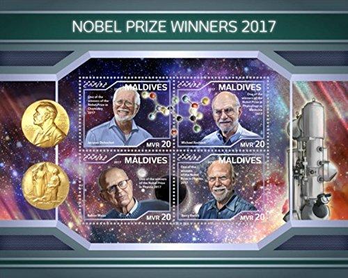 Maldives Sheet - Maldives - 2018 Nobel Prize Winners - 4 Stamp Sheet - MLD18113a
