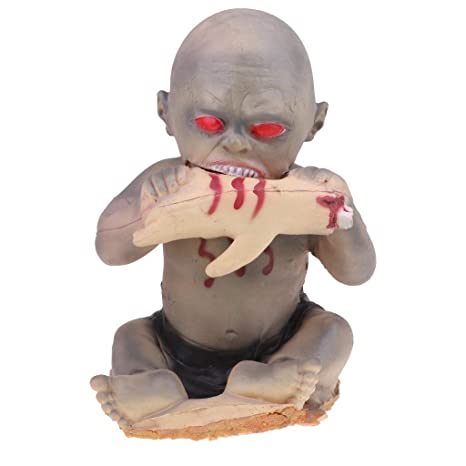 Halloween Zombie Baby Prop.Amazon Com Fenteer Scary Zombie Baby Doll Bloody Eating Hand Dolls