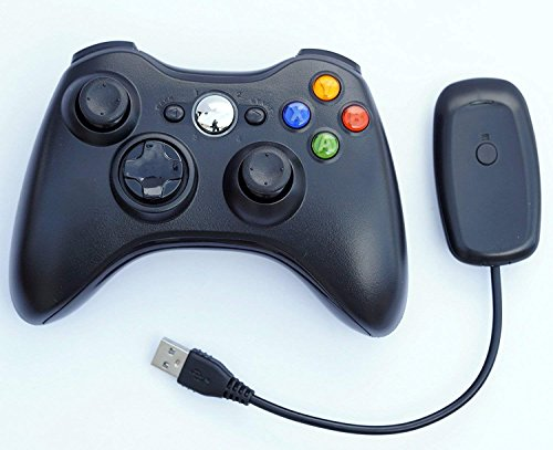 FiveStar USB Wireless Game Pad Controller for Use With Microsoft Xbox 360 (Black)
