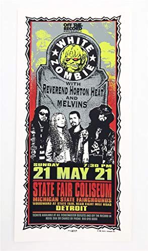 (White Zombie Reverand Horton Melvins Rock Concert Silkscreen Handbill Poster Mark Arminski)