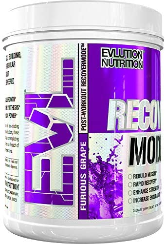 Evlution Nutrition Recover Mode Post-Workout mit BCAAs, Kreatin, Glutamin, Beta-Alanin, L-Carnitin, Vitaminen und mehr, 30 Portionen (Furious Grape)