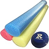 RoadRunner 3 Pack No Hole Extra Long Deluxe Solid Core Pool Noodles