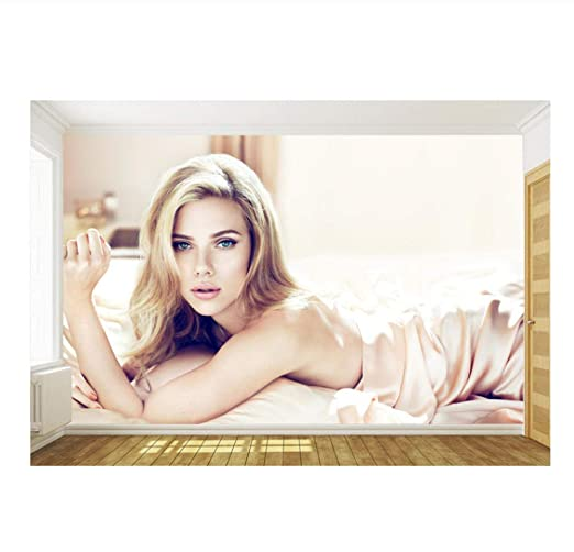 Scarlett Johansson Photo Wallpaper Custom Wall Mural 3d