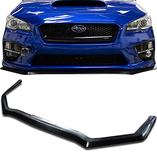 Front Bumper Lip Fits 2015-2018 Subaru WRX STI | HD Style Black PU Front Lip Finisher Under Chin Spoiler Add On by IKON MOTORSPORTS | 2016 - Lip Style Spoiler