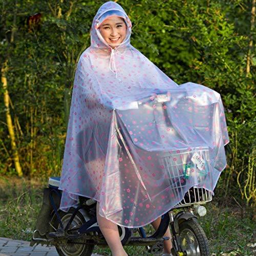 De Casual Mode Pour Capuche Transparent Imperméable Poncho Léger Extérieur Flower Veste Femmes Pluie Pink Dame SwqxvdqC