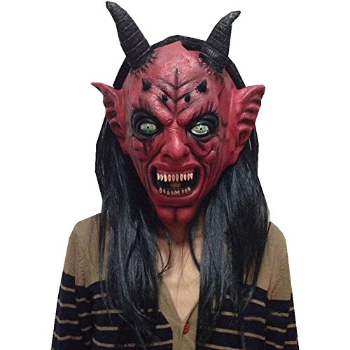 [ALICE-X&S Bull Demon King Red Monster Devil Evil Halloween Party Prop Masks] (Devil Masks For Sale)
