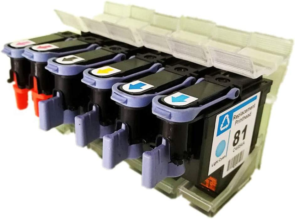 YBCD Adecuado para HP Designjet HP5000 HP5500 Plotter C4950A C4951A C4952A C4953A C4954A C4955A Cabeza de Impresora 81: Amazon.es: Electrónica