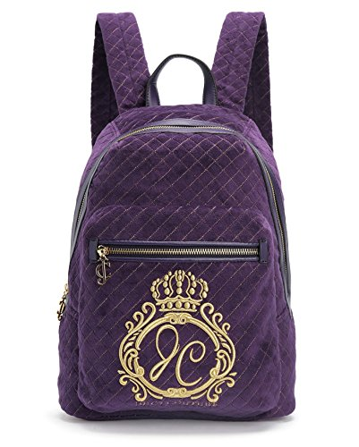- Juicy Couture Jc Monogram Velour Backpack, Aubergine