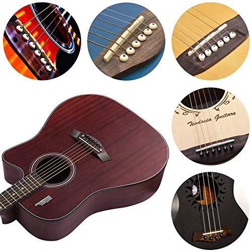 Acoustic Guitar Bridge Pins Puller Pulling Remover Extractor Tool Guitar Saddle Nut KONIBN 12Pcs Plastic Acoustic Guitar Bridge Pins Pegs
