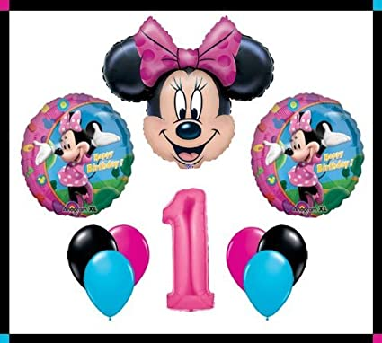 "Minnie Mouse 18/"" Foil Balloons Kids Birthday Minnie Mouse Design Baloon"