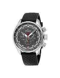 Zenith El Primero Chronograph Automatic Grey Dial Black Rubber Mens Watch 03228040091R576
