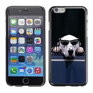 Smartphone Rígido Protección única Imagen Carcasa Funda Tapa Skin Case Para Apple Iphone 6 Dog Sunglasses Dalmatian White Funny Cute / STRONG