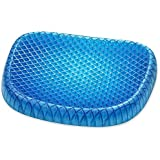 NEWTECHPLUS Egg Gel Sitter Foam Seat Cushion Non-Slip Perfect for Office Chair, Car, Wheelchair Cover Sitter Soft Pad Pain Relief Back & Sciatica & Coccyx with Washable Cover