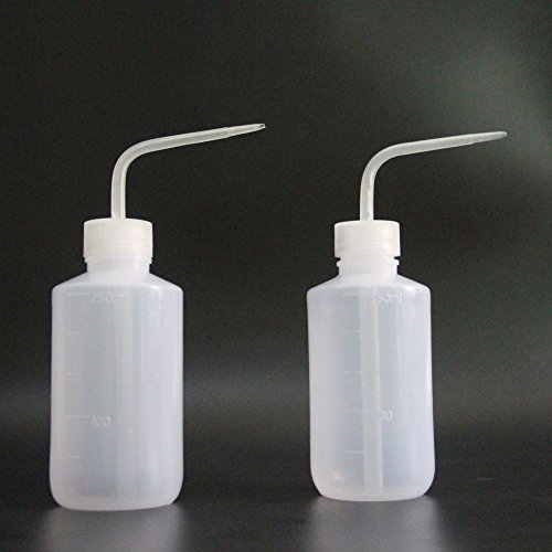 Wash Bottle,Squeeze Bottle,LDPE,New Star Tattoo 250ml/8OZ 2pcs Medical Label Plastic Tattoo Green Soap Cleaning Washing Bottle