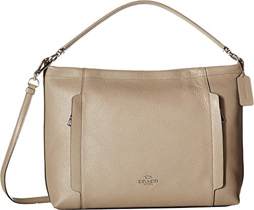 (Coach Scout Medium Hobo SilverStone)
