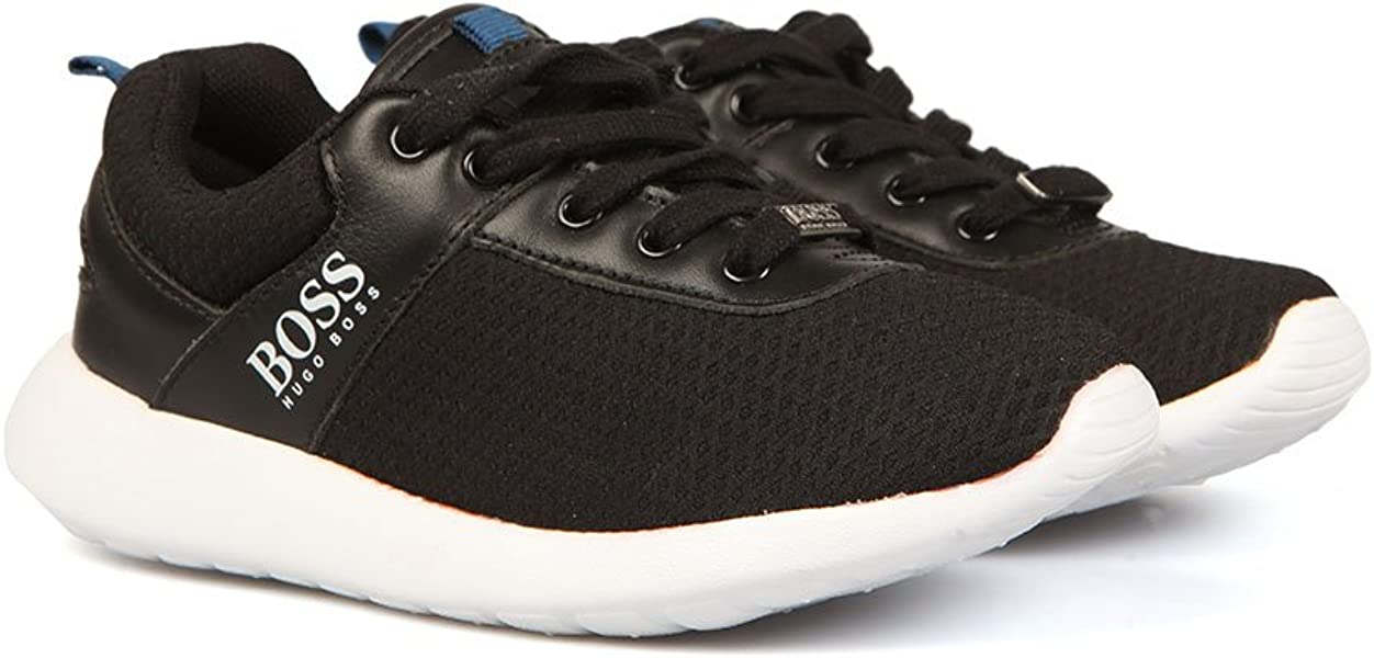 e9a9bfa17b7 Hugo Boss - Zapatillas para niño Negro Negro  Amazon.es  Zapatos y ...