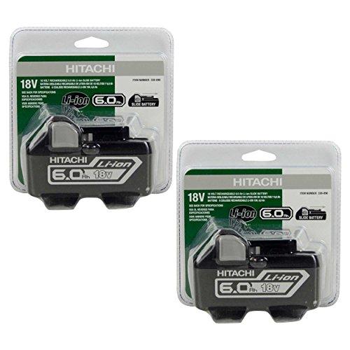 Hitachi BSL1860#338890 18V 6.0Ah Lithium Ion Battery - 2 Pack