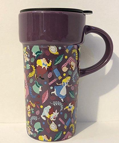 Wonderland Disneyland In Alice - Disney Alice in Wonderland Ceramic Travel Mug With Lid