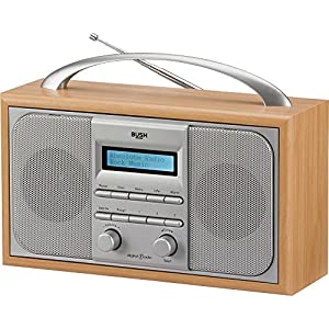 bush wooden dab radio electronics. Black Bedroom Furniture Sets. Home Design Ideas