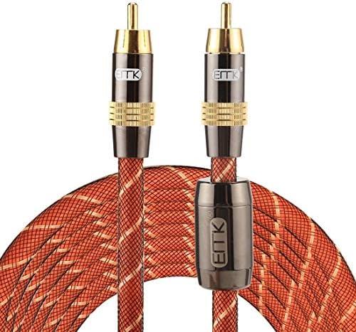 AVのみ EMK TZ/A 5メートルOD8.0mmゴールドメッキメタルヘッドRCA RCAプラグデジタル同軸接続ケーブルオーディオ/ビデオRCAケーブルへの.
