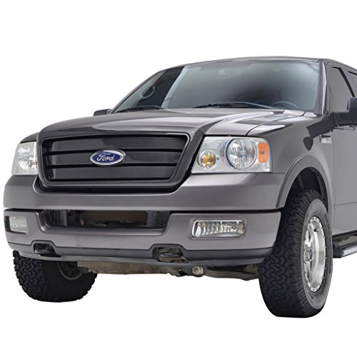 Tidal Replacement F150 Upper Grille Front Hood Full Grill With Emblem Clip for 04-08 Ford F-150 ()