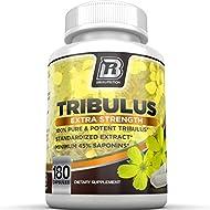 BRI Nutrition Tribulus Terrestris - 180 Count 45% Steroidal Saponins - Highest Purity On The Market - 1500mg Maximum Strength Bulgarian Tribulus (180 Capsules)