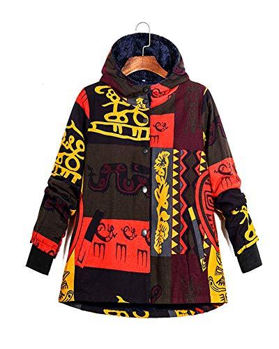 Fourrure La Comme 2 La Chaud Femmes Coton De Les Sweatshirts Ethnique Photo Lin Grande Imprimer Fausse Zipper Avec Femmes Taille Manteaux Pour Zixing D'hiver Survêtement CqBac1cw