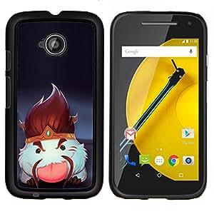 LECELL--Funda protectora / Cubierta / Piel For Motorola Moto E2 E2nd Gen -- Blanco mullido Criatura --