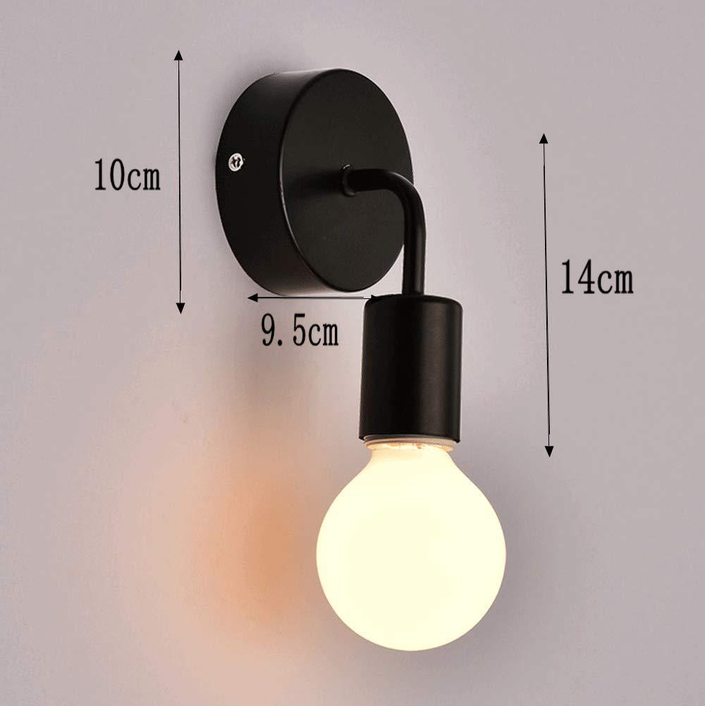 Noir et Blanc 2 pack Vintage Applique Murale Industrielle E27 Edison Modern Loft Lampe Murale M/étal 40W R/étro Luminaire Eclairage pour Ext/érieur Int/érieur
