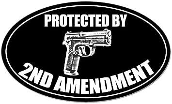 Political Sticker More Guns Less Crime Decal 2nd Amendment