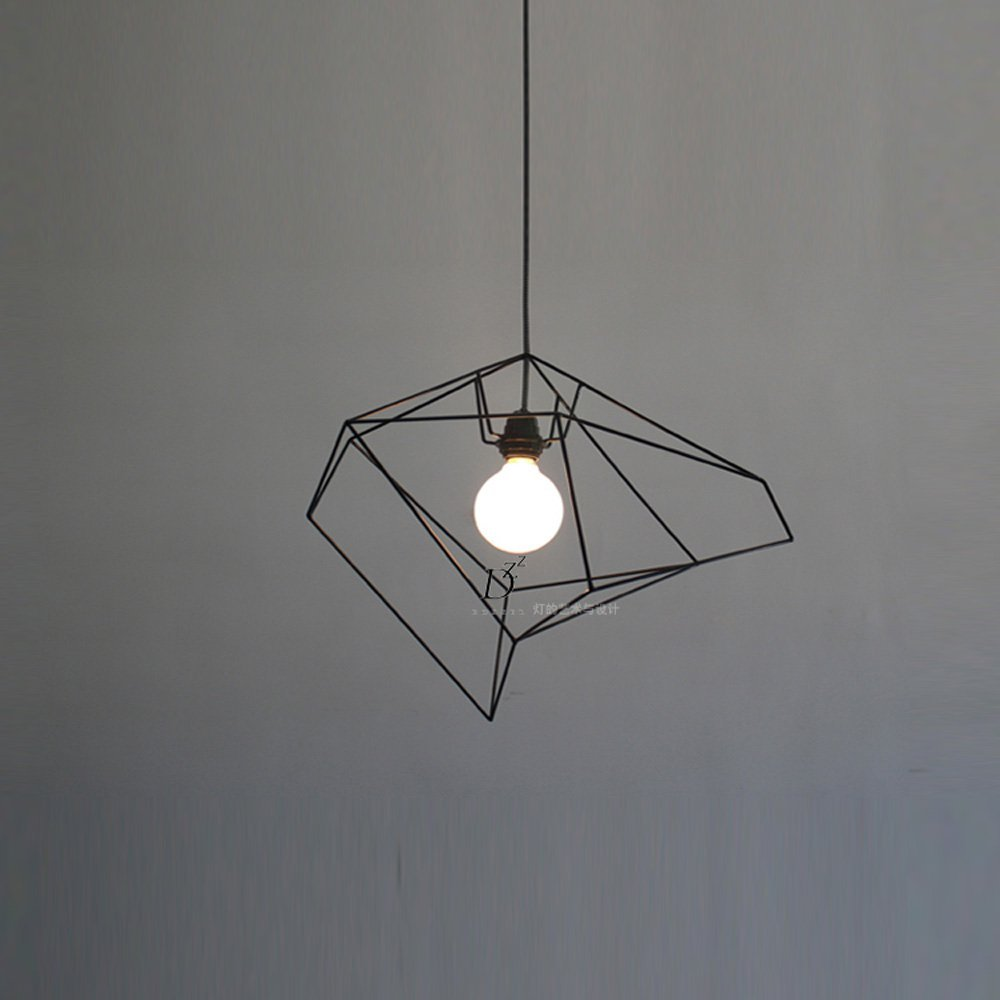 Northern europe loft american bar counter ceiling pendant lights balcony corridor pendant lamp dining room bird cage pedant lighting fixtures black
