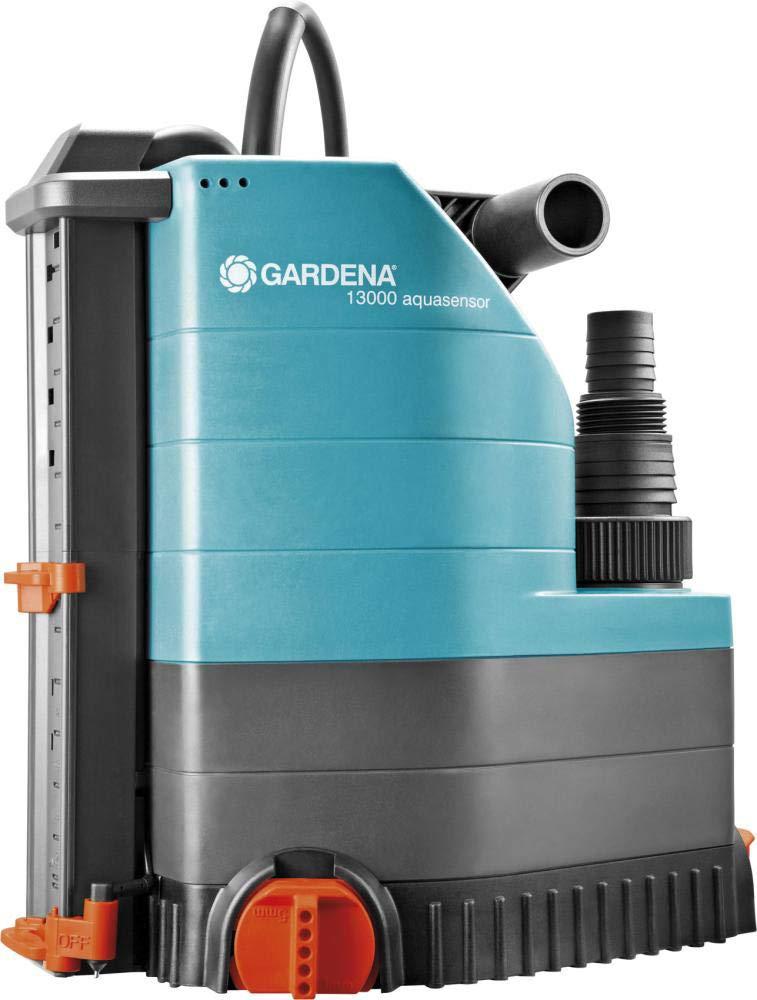 GARDENA 01785-61 Klarwasser-Tauchpumpe 13000 aquasensor schwarz Orange t/ürkis 650 W