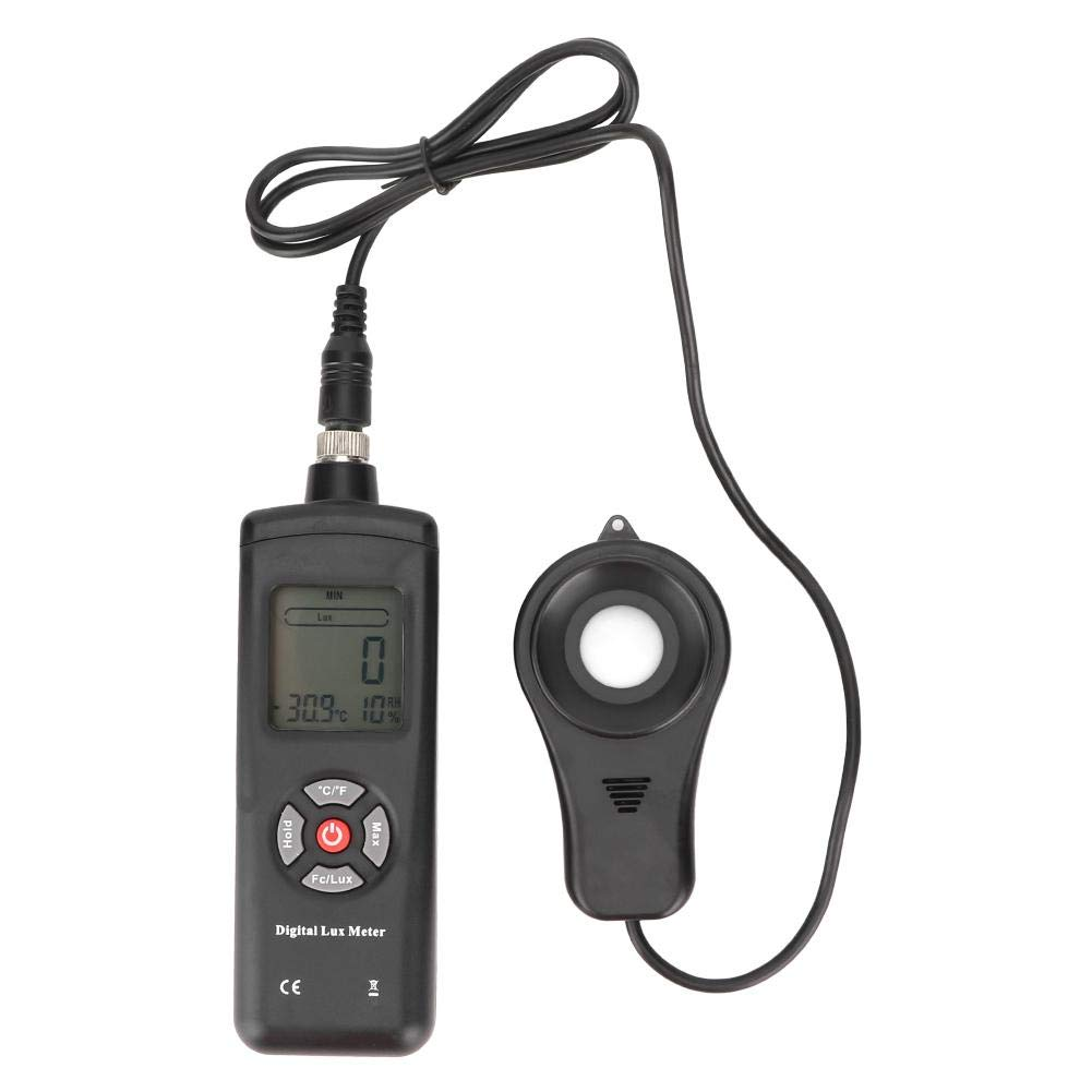 TL-601 3 in 1 Digital Lux Meter Handheld Ambient Temperature Measurer 0-200000 Lux Illuminance Light Meter with Temperature Humidity Measure by AYNEFY