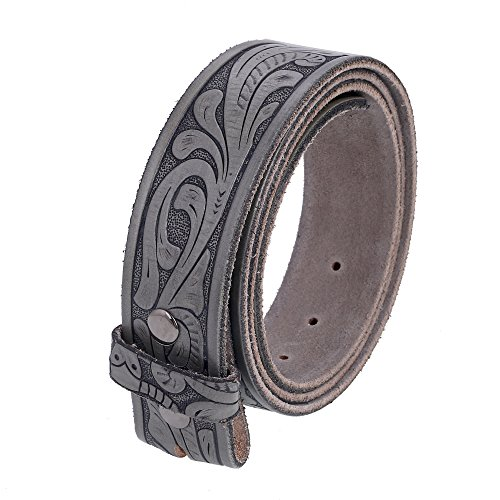 Gelante Genuine Full Grain Leather Belt Strap without Belt Buckle - Mens Style Leather