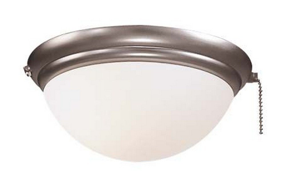 Minka Aire K9373-L-BS Accessory - 9.5'' One Light Bowl Kit, Brushed Steel Finish with Frosted Glass