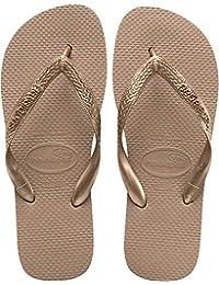 Havaianas Women's Top Tiras Flip Flop Sandal, Rose Gold, 7/8 M US
