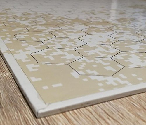 "Best 27"" x 27"" Erasable Foldable Battle Grid Reversible Vinyl DnD Playing Game Mat"