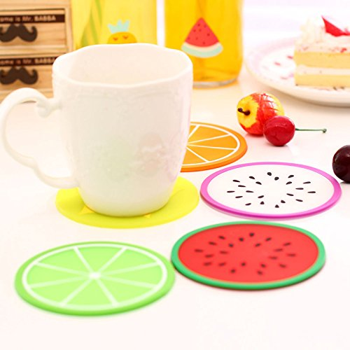 Color al Azar joyfeel Comprar 8/Piezas Redondo Antideslizante Anti-Hot Cute Color Frutas patr/ón para coj/ín de Gel de s/ílice Taza de Bebidas Posavasos Mat Protecci/ón para Mesa