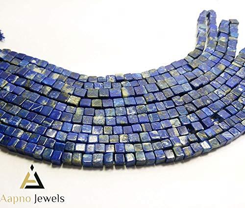 1 Strand Natural Lapis Lazuli Loose Beads Strand, 5-7mm 8 Inch Smooth Cube Box Lapis Lazuli Beads, Lapis Lazuli Beads Necklace, Jewelry Making Lapis Lazuli Beads, Knotted Lapis Lazuli Necklace