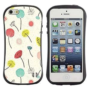 "Hypernova Slim Fit Dual Barniz Protector Caso Case Funda Para Apple iPhone SE / iPhone 5 / iPhone 5S [Primavera Verano Flores florales""]"