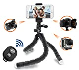 Need4Pro Universal Flexible Tripod with Phone Mount Holder and Bluetooth Shutter Remote