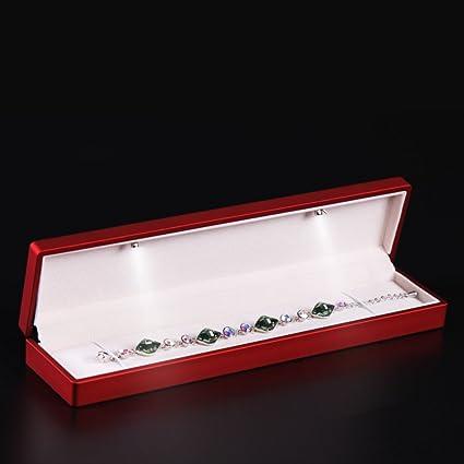 propuesta de matrimonio creativasLED caja del anillo/caja de anillo de nudo/Joyería pulsera