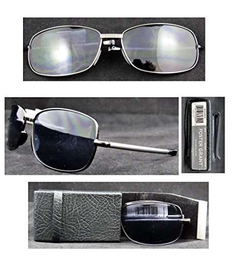 2 Pack Foster Grant Microvision  Gilligan  Compact Folding Sunglasses With Leatherette Case
